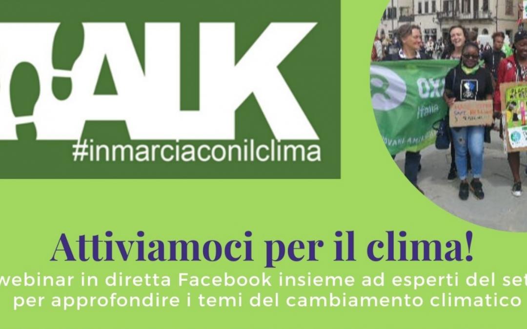 """""""Attiviamoci per il clima!""""  – ciclo di webinar nell'ambito del progetto """"WALK-In Marcia con il clima"""""""