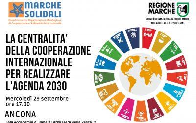 La centralità della Cooperazione internazionale per realizzare l'Agenda 2030